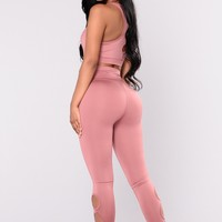 Ondina High Rise Legging - Mauve