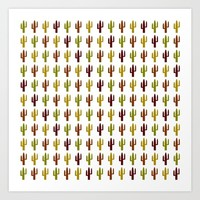 Cactus 2 design, Vector Art Print by Claude Gariepy