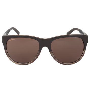 Bvlgari Square Sunglasses BV7025 535673 57 | Brown Frame | Brown Lenses