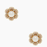 Kate Spade Park Floral Studs Cream/Clear/Gold ONE