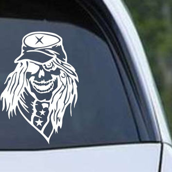 Confederate Rebel Soldier Skull Vinyl Die Cut Decal Sticker