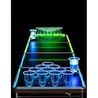 8' Glowing Beer Pong Table - Spencer's