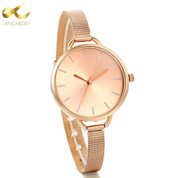 Lancardo Luxury Women Watch Ultrathin Rose Gold Quartz Watch Women Dress Watches Ladies Fashion Wristwatch Watches Relojes Mujer