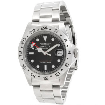 Invicta 9401 Men's Pro Diver GMT Stainless Steel Black Dial Dive Watch