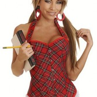 Red Plaid Schoolgirl Halter Corset Intimates @ Amiclubwear Intimates Clothing online store:Lingerie,Corset,Bustier,Women's Intimates,Sexy Intimate,Corset Intimates,intimates underwear,sheer intimates,silk intimates,intimates bras,holiday underwear,garter