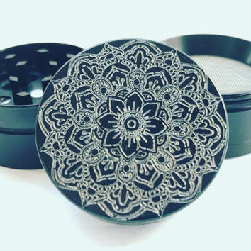 Custom Herb Grinder - Mandala Design - Create Your Own 40mm Aluminium CNC