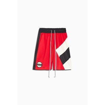 LA shorts / red + black + ivory
