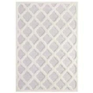 REGALE ABSTRACT MOROCCAN TRELLIS 8X10 SHAG AREA RUG