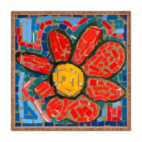 Fresh Artists Red Paper Flower Square Tray