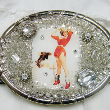 Women's Custom Made Pin Up Belt Buckle