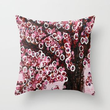 :: Pink Canopy :: Throw Pillow by :: GaleStorm Artworks ::