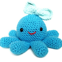Ella the Octopus - Cute Amigurumi Crochet Stuffed Animal Plush