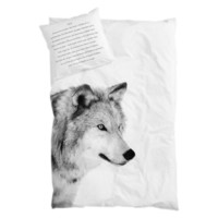 BY NORD Wolf Adult Double Size Duvet and Pillow Cover Set