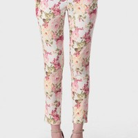 Summer Cottage Floral Cropped Pants at ShopRuche.com