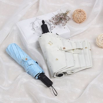 Design Stylish Innovative Korean Strong Character Uv Proof Lovely Umbrella [10151685708]