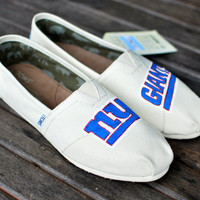 New York Giants TOMS by BStreetShoes on Etsy