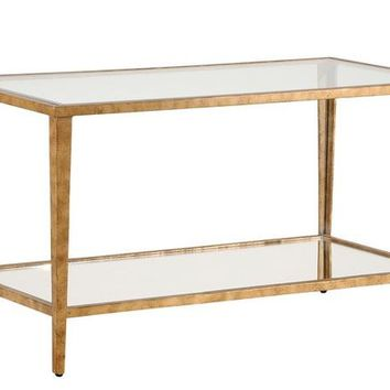 Carson Cocktail Table- Gold
