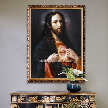 Jesus Christ Jesus Canvas Posters and Prints Wall Art Pictures for living room Home Decor cuadros decoracion Oil painting 5