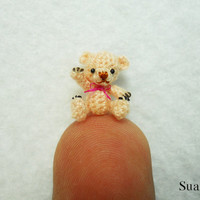 1/2 Inch Micro Miniature Bear  Extreme Tiny Thread by SuAmi