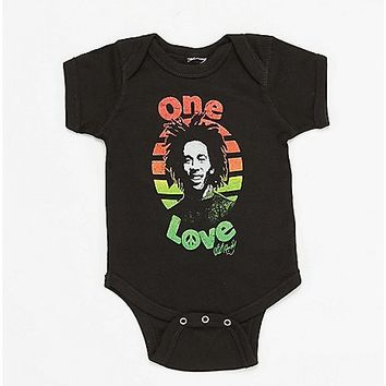 One Love Bob Marley Baby Bodysuit - Spencer's