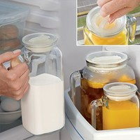 Air-Tight Glass Beverage Dispenser @ Fresh Finds