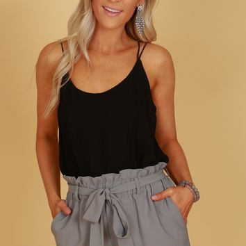 High Ruffle Shorts Charcoal