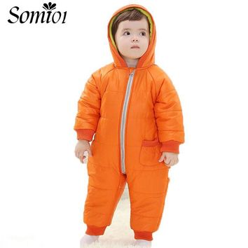 9-24 Months Baby Winter Clothes Girl Boy Romper Warm Baby Winter Jumpsuit Skiing Outerwear Clothing Infant Kid Colorful Snowsuit