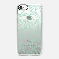 Abstract Lines Mint Transparent iPhone 7 Case by Project M | Casetify
