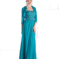 Teal Long Mother of the Bride Dress on Sale