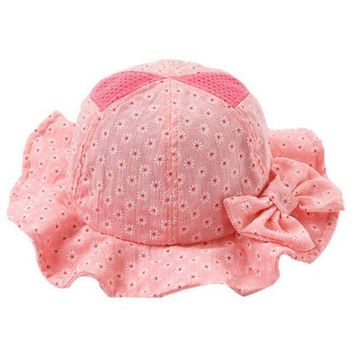PEAP78W Sun Beach Casual Bucket Baby Hat Toddler Infant Sun Cap Summer Baby Girl Floral Hats