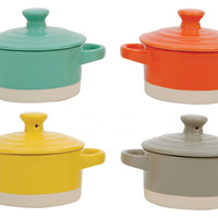 "Round Stoneware Mini Bakers, 3.25"", Bakers & Casseroles"