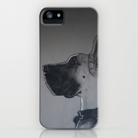 great dane in leather iPhone & iPod Case by Austin Batchelor