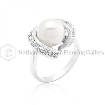 Single Pearl Cocktail Ring (size: 05) R08303R-C84-05