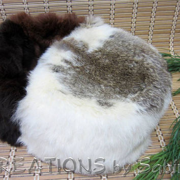 Rabbit Fur Foot Muff, Foot Warmer, Feet, Fur, soft, cozy, hunter, man cave, Vintage