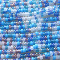 Czech Glass Seed Beads Multi Blue Mini Hank Seed Bead Lot Czech Beads Size 8/0 Bead Supplies Bead Weaving Bead Embroidery