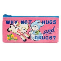 Blue Q Why Not Hugs & Drugs Pencil Case