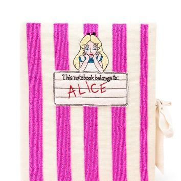 Beaded Alice in Wonderland Notebook Clutch - OLYMPIA LE-TAN
