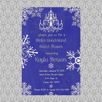 printable invitation blue white and silver winter wonderland f my wedding