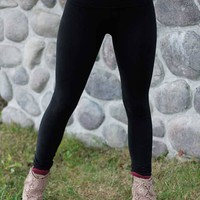 Folded Band T-Party Legging