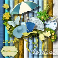 Sun and Sea ~ FREE for a limited time!! by PickleStar Scraps
