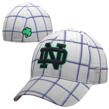 Top of the World Notre Dame Fighting Irish Fuse 1-Fit Flex Hat - Gray