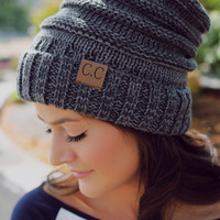 Speak Easy Beanie - Charcoal