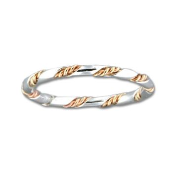 Twisted Rope Ring - Mix Metals (S)