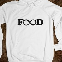 Supermarket: Infinate Food Hooded Sweatshirt from Glamfoxx Shirts