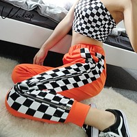 Zip Up Checkered Trouser