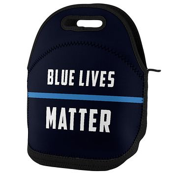 Police Blue Lives Matter Thin Blue Line Lunch Tote Bag