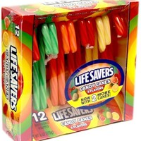 Life Savers Candy Canes - 12 ct