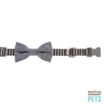 Martha Stewart Pets® Fresh Meadows Stripe & Bow Tie Adjustable Dog Collar | Collars | PetSmart