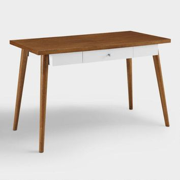 Two Tone Wood Mid Century Simmone Desk