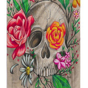 Crafty Skull Beach Towel